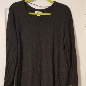 Style & Co Charcoal color lightweight sweater